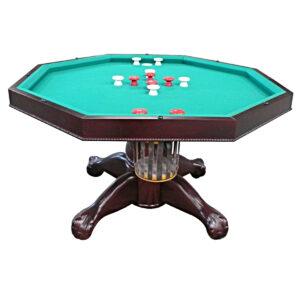 3 in 1 Multi Table – Octagon 48″ Mahogany