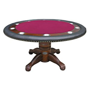 Round Poker Table – 60″ Dark Walnut
