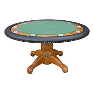 Round Poker Table – 60″ Oak
