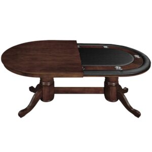 Texas Hold Em Poker Table with Dining Top – Cappuccino